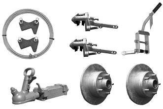 Mechanical Brake Kit (Ford Stud Pattern) Gal Disc