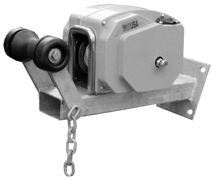 Electric Winch Carrier Inc Bow Roller Suits 64mm Sq